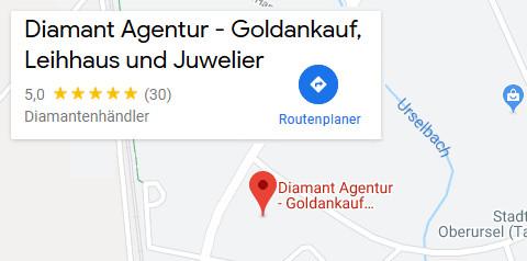Anfahrt Diamant Agentur