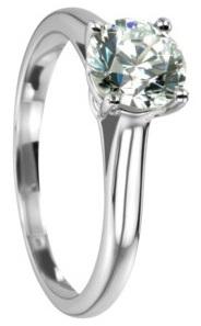 Weissgold Diamantring 4 Krappen